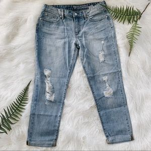 LIKE NEW Gap sexy boyfriend 100% cotton jeans